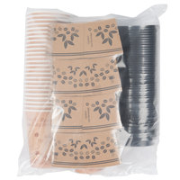 Choice 12 oz. Paper Hot Cup, Lid, and Sleeve Combo Kit - 50 / Pack