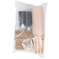 Choice 16 oz. Paper Hot Cup, Lid, and Sleeve Combo Kit - 25 / Pack