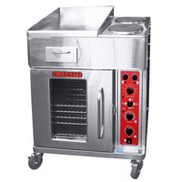 Blodgett CTB-GFB Electric Range with 18 inch Left Griddle, Two Burners, and Convection Oven Base with Left-Hinged Door - 240V, 3 Phase, 16.8 kW