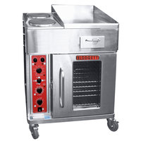 Blodgett CTBR-GFB Electric Range with 18 inch Right Griddle, Two Burners, and Convection Oven Base with Right-Hinged Door - 208V, 1 Phase, 16.8 kW