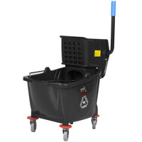 Lavex Janitorial Black 36 Qt. Mop Bucket & Wringer Combo