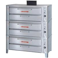 Blodgett 911P Liquid Propane Compact Triple Pizza Deck Oven with Draft Diverter - 81,000 BTU