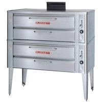 Blodgett 911P Liquid Propane Compact Double Pizza Deck Oven with Draft Diverter - 54,000 BTU