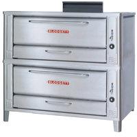 Blodgett 1048 Liquid Propane Double Pizza Deck Oven with Draft Diverter - 170,000 BTU