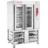 Blodgett XR8-G Liquid Propane Mini Rotating Rack Bakery Convection Oven with Stand - 110,000 BTU