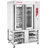 Blodgett XR8-G Natural Gas Mini Rotating Rack Bakery Convection Oven with Stand - 110,000 BTU