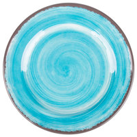 Carlisle 5400715 Mingle 7 inch Aqua Round Melamine Bread and Butter Plate - 12/Case