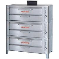 Blodgett 911 Gas Compact Triple Deck Oven with Draft Diverter - 81,000 BTU