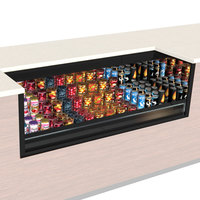 Structural Concepts CO33R-UC-QS Oasis Black 36 inch Undercounter Air Curtain Merchandiser