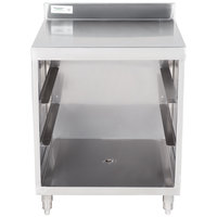 Regency Stainless Steel Flat Top Glass Rack Storage Unit - 23 inch x 24 inch