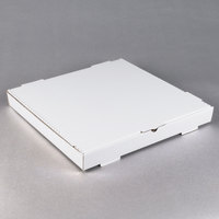 18 inch x 18 inch x 1 3/4 inch White Corrugated Plain Pizza / Bakery Box - 50 / Bundle