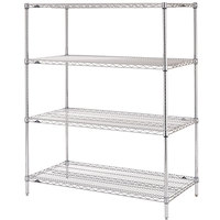 Metro N326C Super Erecta Adjustable Chrome Wire Stationary Starter Shelving Unit - 18 inch x 30 inch x 63 inch