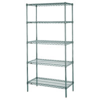 Metro 5N537K3 Super Erecta Metroseal 3 Adjustable Wire Stationary Starter Shelving Unit - 24 inch x 36 inch x 74 inch