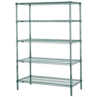 Metro 5N567K3 Super Erecta Metroseal 3 Adjustable Wire Stationary Starter Shelving Unit - 24 inch x 60 inch x 74 inch