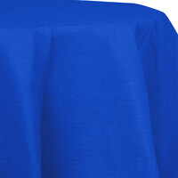 Creative Converting 923147 82 inch Cobalt OctyRound Tissue / Poly Table Cover