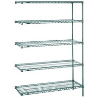 Metro 5AN527K3 Super Erecta Metroseal 3 Adjustable Wire Stationary Add-On Shelving Unit - 24 inch x 30 inch x 74 inch