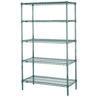 Metro 5N347K3 Super Erecta Metroseal 3 Adjustable Wire Stationary Starter Shelving Unit - 18 inch x 42 inch x 74 inch