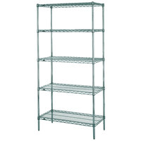 Metro 5N317K3 Super Erecta Metroseal 3 Adjustable Wire Stationary Starter Shelving Unit - 18 inch x 24 inch x 74 inch