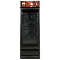 True GDM-23W-LD Black One Glass Door Refrigerated Wine Merchandiser - 23 Cu. Ft.