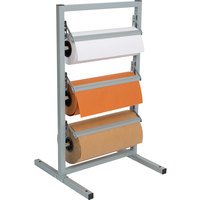 Bulman T368R-9 9 inch Three Deck Tower Paper Rack with Straight Edge Blade