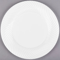 "Visions Wave 9"" White Plastic Plate - 180/Case"