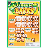 Green Backs 5 Window Pull Tab Tickets - 3080 Tickets Per Deal - $1120 Total Payout