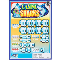 Casino Sharks 5 Window Pull Tab Tickets - 3080 Tickets Per Deal - $1120 Total Payout