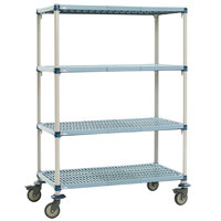 Metro Q336BG3 MetroMax Q Open Grid Shelf Cart with Rubber Casters - 18 inch x 36 inch x 67 inch