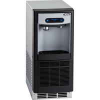 Follett 7UC100A-IW-CF-ST-00 7 Series 14 5/8 inch Air Cooled Chewblet Undercounter Ice Maker and Water Dispenser with Filter - 7 lb.