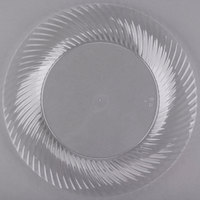 Visions Wave 9 inch Clear Plastic Plate - 180/Case
