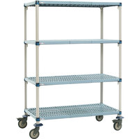 Metro Q566BG3 MetroMax Q Open Grid Shelf Cart with Rubber Casters - 24 inch x 60 inch x 67 inch