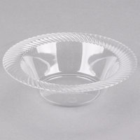 Visions Wave 6 oz. Clear Plastic Bowl - 18/Pack