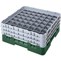 Cambro 49S800119 Sherwood Green Camrack 49 Compartment 8 1/2 inch Glass Rack