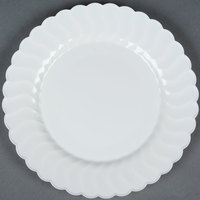 Fineline Flairware 210-WH 10 1/4 inch White Plastic Plate - 18 / Pack