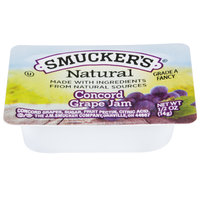 Smucker's Natural Concord Grape Jam .5 oz. Portion Cup - 200 / Case