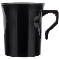 Visions 8 oz. Black Plastic Coffee Mug - 8/Pack