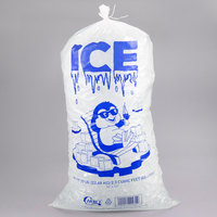 Choice 50 lb. Clear Plastic Ice Bag with Ice Print - 250/Case
