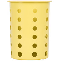 Steril-Sil RP-25-YELLOW Yellow Plastic Straight Sided Flexible Silverware Cylinder