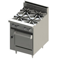 Blodgett BR-4 4 Burner 24 inch Gas Range with Cabinet Base - 120,000 BTU