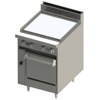 Blodgett BR-24G-24 24 inch Manual Gas Range with Griddle Top and Oven Base - 78,000 BTU