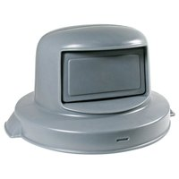 55 Gallon Gray Dome Top Trash Can Lid