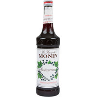 Monin 750 mL Premium Blackcurrant Flavoring / Fruit Syrup