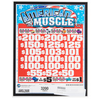 American Muscle 3 Window Pull Tab Tickets - 3200 Tickets per Deal - $2260 Total Payout