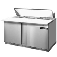 Continental Refrigerator SW60-16C-FB 60 inch Front Breathing Cutting Top Sandwich / Salad Prep Refrigerator