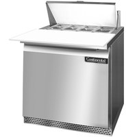 Continental Refrigerator SW32-8C-FB 32 inch Front Breathing Cutting Top Sandwich / Salad Prep Refrigerator