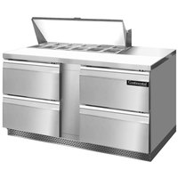 Continental Refrigerator SW60-12-FB-D 60 inch Front Breathing Sandwich / Salad Prep Refrigerator with Four Drawers