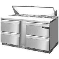 Continental Refrigerator SW60-16-FB-D 60 inch Front Breathing Sandwich / Salad Prep Refrigerator with Four Drawers