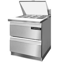 Continental Refrigerator SW27-12M-FB-D 27 inch Mighty Top Front Breathing Sandwich / Salad Prep Refrigerator with Two Drawers