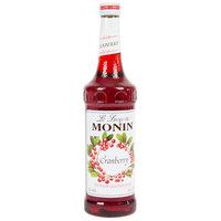 Monin 750 mL Premium Cranberry Flavoring / Fruit Syrup