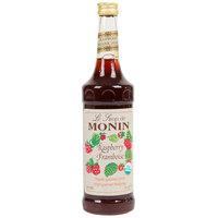 Monin 750 mL Organic Raspberry Flavoring / Fruit Syrup